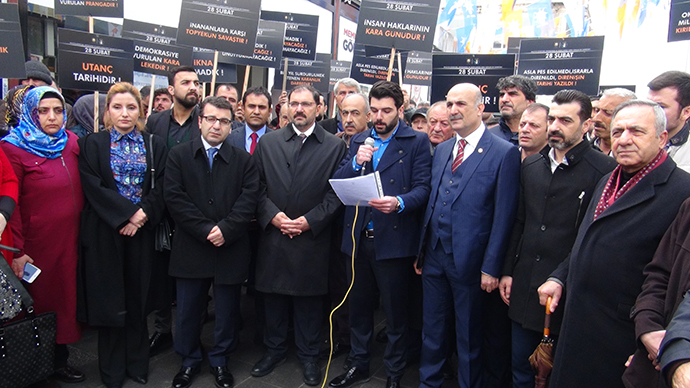 """28 Şubat açıklamasını okuyan avukat Borak; """"Aziz milletimiz darbelere son vermiştir"""""""