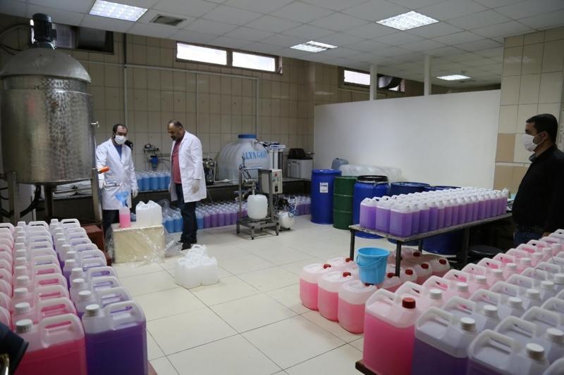 Batman Üniversitesi sıvı sabun üretimine başladı