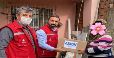 ASKON'DAN DAR GELİRLİ AİLELERE GIDA PAKETİ