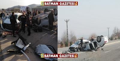 BATMAN'DA FECİ KAZA ÖLÜ VE YARALILAR VAR
