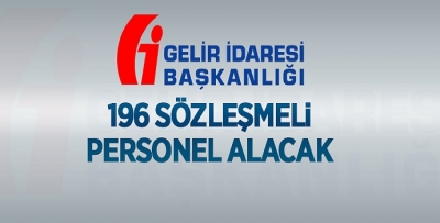 GİB 196 PERSONEL ALACAK