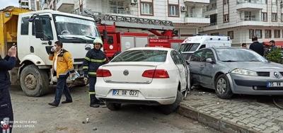 Hafriyat kamyonu kazası
