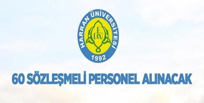 HARRAN ÜNİVERSİTESİ 60 SÖZLEŞMELİ PERSONEL ALIYOR