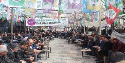 KOZLUK'TA HDP'YE KATILIM