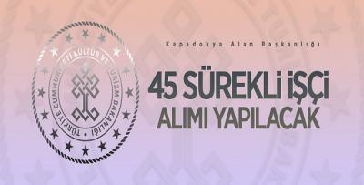 KÜLTÜR VE TURİZM BAKANLIĞI 45 PERSONEL ALACAK
