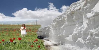 Ovada bahar dağda kar