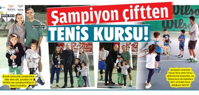 Şampiyon çiftten TENİS KURSU!