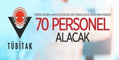 TUBİTAK 70 PROJE PERSONELİ ALIYOR